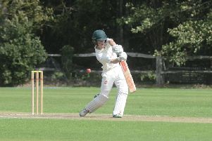 Charlie Davies hit 35 for West Chiltington & Thakeham at Stirlands on Saturday. All pictures by Kate Shemilt