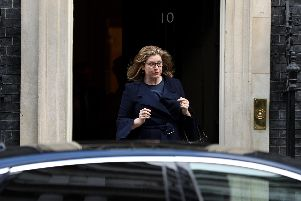 Penny Mordaunt walking out of 10 Downing Street. Picture: Dan Kitwood/Getty Images