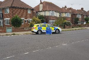 The collision happened in George V Avenue, Worthing. Photo by police SUS-190309-183354001