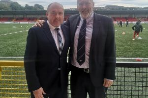 Institute's new manager Sean Connor pictured alongside Bill Anderson, Institute Chairman.