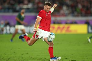 Dan Biggar started for Wales against South Africa last weekend