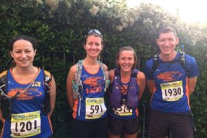 Some of the Tone Zone team who ran at Beachy Head