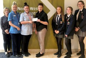 The Western Health and Social Care Trust (Western Trust)  receives a generous donation of �1,030 from staff and pupils of Lisneal College.  'The money was raised through running two coffee mornings and a bun sale.