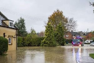 Photo from Warwickshire Fire and Rescue in the Shipston area.