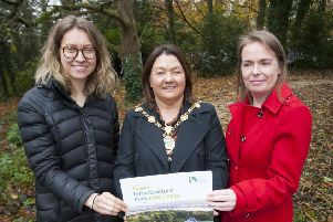 GREEN INFRASTRUCTURE PLAN. . . . .The Mayor of Derry City and Strabane District Council, Michaela Boyle pictured with Caroline Vexler, Economist, Vivid Economics and Dr. Christine Doherty, main speakers at the launch of the Green Infrastructure Plan 2019-2032