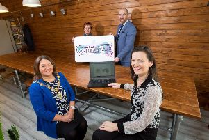 Derry City & Strabane District Council Mayor Michaela Boyle is pictured alongside Sinead Lynch, Derry City & Strabane District Council Business Officer, Leanne Rouse, Coordinator at the Grass Roots Cafe & Food Market, and Brian O'Neill, Enterprise North West at the launch of 'Get Your Business Online 2'.