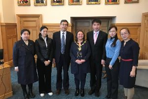 Mayor of Derry City and Strabane District, Councillor Michaela Boyle, welcomed a special delegation from Dalian Vocational and Training College in China