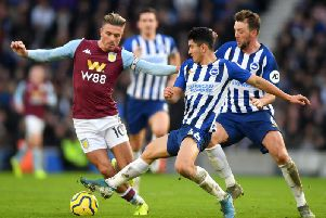 Jack Grealish has scored four goals against Brighton in his last four matches in all competitions