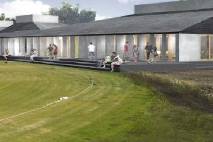 The artists impression of the new proposed pavilion at Newbuildings Cricket Club.