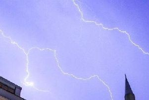 An amber weather warning for storms has been issued
