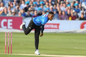 England international and Sussex Sharks all-rounder Chris Jordan.