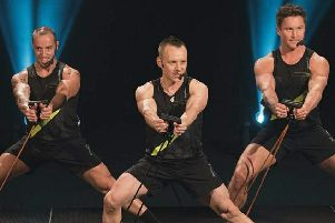 Justin Riley (centre) during one of the world-known Les Mills' workouts.