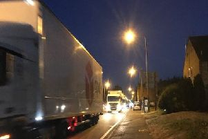 Traffic on the A5 in Hockliffe on Friday night when M1 was closed in June