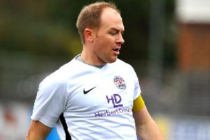 Horsham YMCA's Ash Dugdale will miss their home game against Pagham in the Premier Division on Saturday. Picture by Steve Robards.
