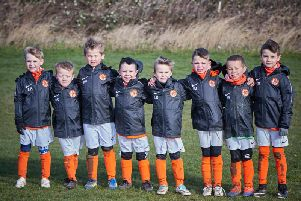 Rugby Town Under 7s Tigers, sponsored by Howdens