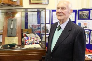 Pat Hagan, pictured at the 'Wolds in Wartime' exhibition at Sessions House in Louth in September 2014.