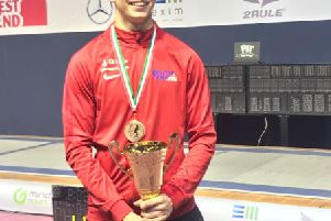 Louth fencer Williams Lonsdale has been among the top performers with the British squads this year EMN-190403-153425002