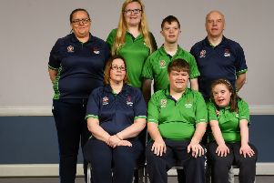 Athletes and Coaches including Emma McMenamin, Siobhan McKay, Lee Mitchell, Tommy McCay, Katherine Kelly, Richard Currie and Shannon Nixon in attendance at the Special Olympics Ireland official launch Team Ireland for the 2019 Word Summer Games at the Carlton Hotel Tyrellstown in Dublin.