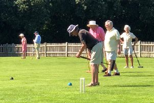 Croquet in the idyllic setting of West Wittering