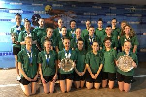 Rugbys synchronised swimmers at the Midland Championships and Masters at Bramcote, Nottingham