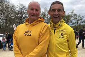 Phil Jackson and Steve Hunt won their age groups at the Rutland Half-Marathon EMN-190418-125350002