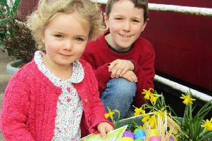 Ewan and Isobel Whyte enjoying some Easter fun