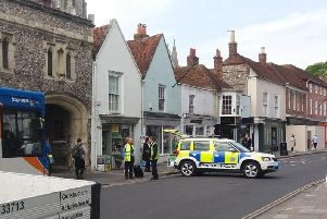 Police in South Street