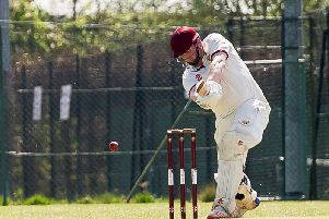 Matt Ewer - pictured batting in the opening game of the season - took six wickets against Standard