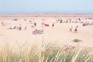 Mablethorpe beach (above) and Sutton on Sea beach achieved Blue Flag status.
