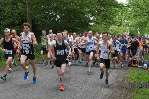The start of the 10k race.