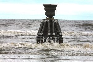 The new Time and Tide Bell at Mablethorpe.