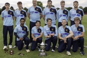 Woodhall Spa CC with the Albion Cup. Photo: @russelldossett (www.sportspictures.online)