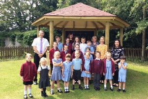 The new gazebo at North Cotes CE Primary School.