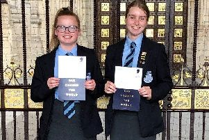 Victoria Archer and Florence Baxter were invited to The House of Lords for afternoon tea, followed by the awards ceremony.