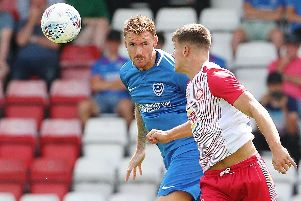 Tom Naylor in action at Stevenage. Picture: Joe Pepler