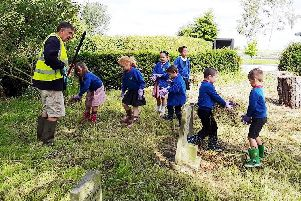 Utterby Primary Academy children helped to tidy up their village.