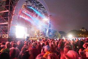 Crowds watching Example on stage during Victorious Festival, 2018. Photo: Habibur Rahman
