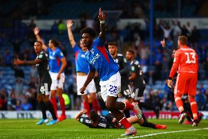 Pompey's Carabao Cup game against Birmingham last week was the first game under Fratton Park's new floodlights  Picture: Dan Istitene/Getty Images