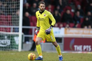 Crawley Town goalkeeper Glenn Morris. Picture courtesy of Getty Images