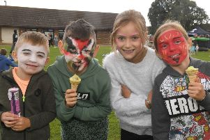 Pictured (from left) Harry Talboys, seven, Spencer Talboys, eight, Lexi Keal, eight, and Ruby Keal, eight of Spilsby.