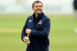 NORTHAMPTON, ENGLAND - APRIL 29:  David Ripley, the Northamptonshire head coach looks on during the tour match between Northamptonshire and Pakistan at The County Ground on April 29, 2019 in Northampton, England. (Photo by David Rogers/Getty Images) NNL-190307-142940002