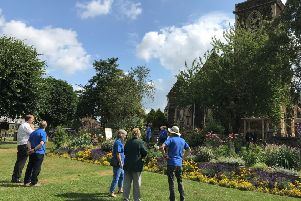 Anglia in Bloom judging in Leighton Buzzard in July