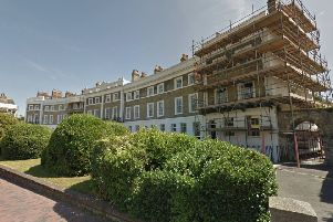 Priory Crescent off Southover High Street in Lewes (photo froom Google Maps Street View).