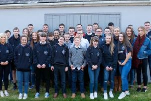 Members of Kells and Connor Young Farmers' Club who are celebrating their 60th year