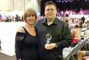 Gail and Ian Brocklesby, pictured at Wythenshawe Forum, Manchester.