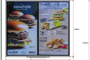 Detailed plans of signage and layout at the proposed McDonalds.