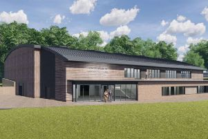 Illustrated plans for the proposed sports hall.