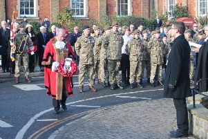 Images from Remembrance Sunday in Louth on November 10, 2019.