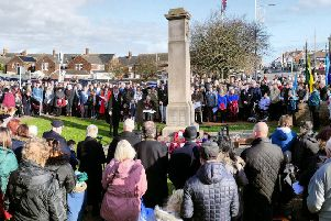 Mablethorpe Remembrance Sunday. (Photo: Mablethorpe Photo Album).