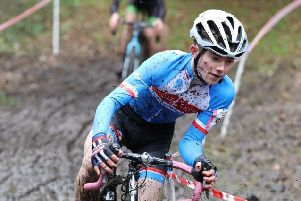 In the thick of it. Jensen racing in typical cyclo-cross conditions EMN-191114-103925002